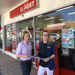 Senator Amanda Stoker and Councillor Fiona Cunningham outside the Stones Corner Post Office